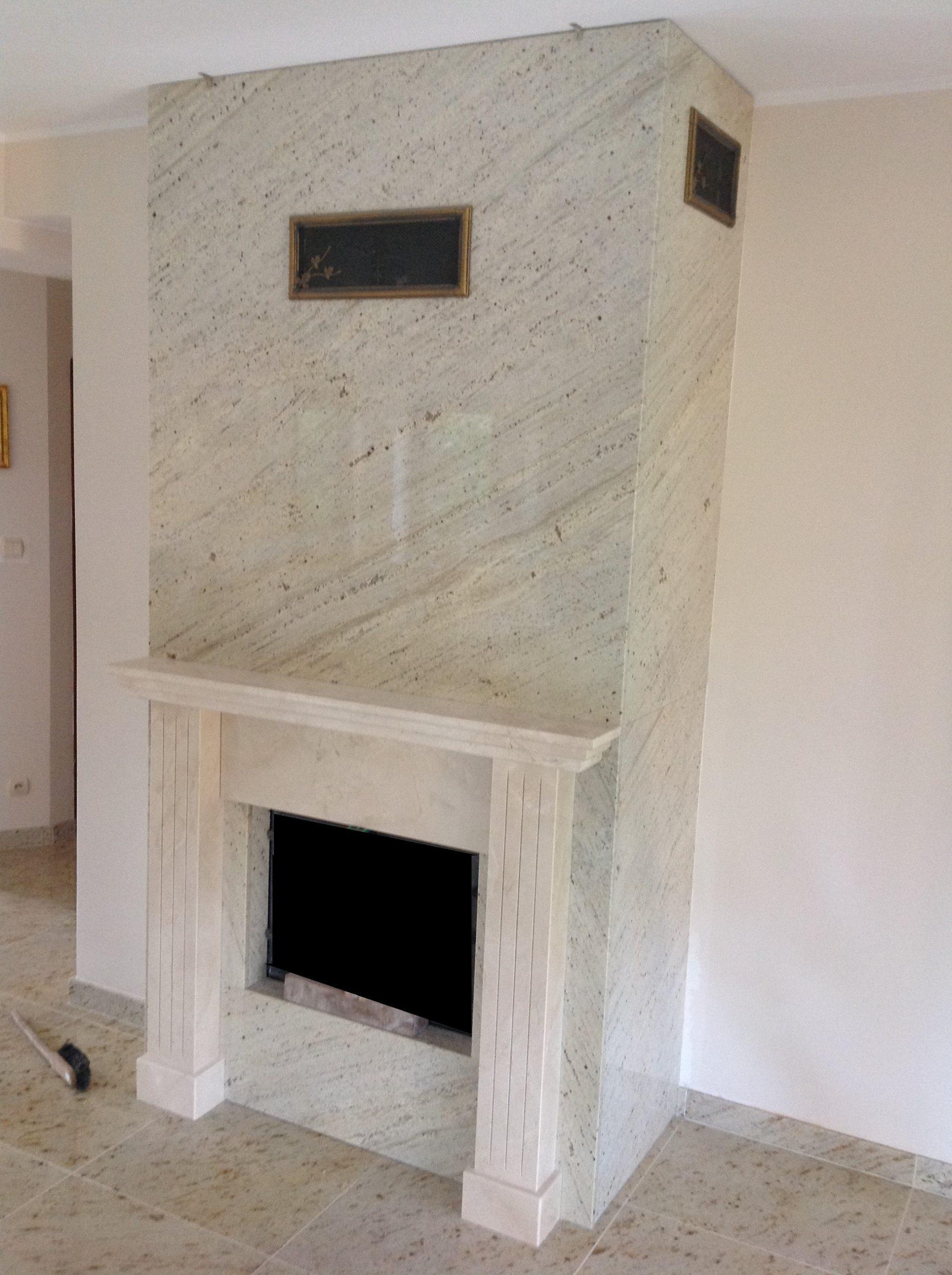 Obudowa kominka granit i marmur
